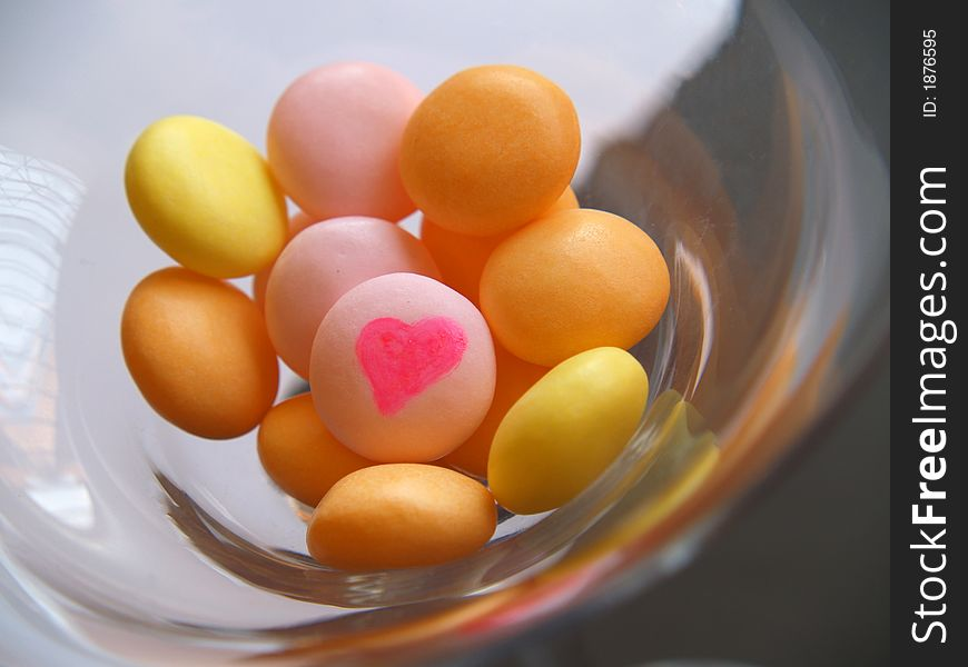 Love sweets in a glass
