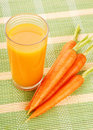 Free Fresh Carrot Juice Stock Photography - 18700222