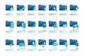 Free Folder Icons Royalty Free Stock Image - 18703696
