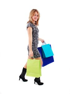 Free Shopping Girl Stock Photography - 18700182