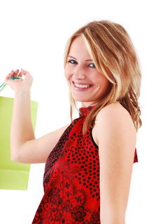 Free Shopping Girl Royalty Free Stock Photo - 18700185