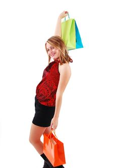 Free Shopping Girl Royalty Free Stock Image - 18700186