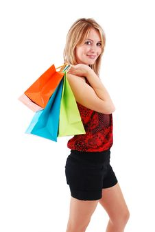 Free Shopping Girl Royalty Free Stock Images - 18700189