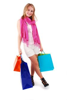 Free Shopping Girl Stock Image - 18700191