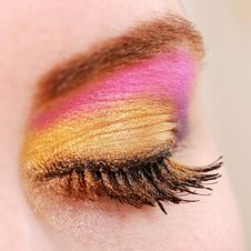 Free Female Eye With Make Up Stock Image - 18700351