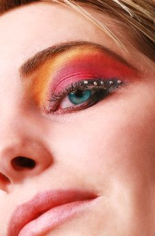 Free Female Eye With Make Up Royalty Free Stock Images - 18700359