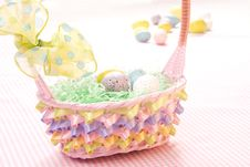 Free Easter Eggs In Basket Royalty Free Stock Photo - 18700545