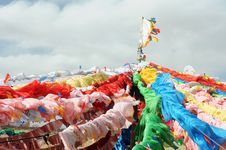 Free Colorful Prayer Flags In Tibet Stock Image - 18700621