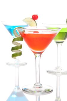 Free Martini Cocktails Royalty Free Stock Photos - 18700688