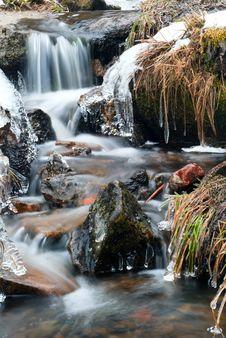 Free Icy Stream Royalty Free Stock Photo - 18700695