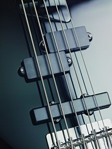 Free Details Of Electric Bass, Pickups And Cords Stock Photography - 18701072