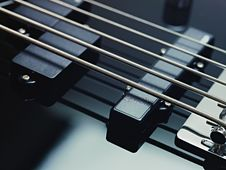 Free Detail Of Electric Bass, Pickups And Cords Stock Images - 18701074