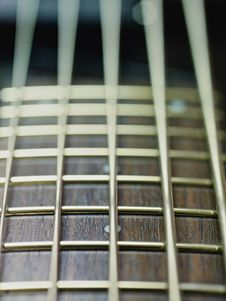 Free Detail Of Electric Bass Cords And Frets Royalty Free Stock Photo - 18701075