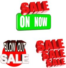 Sale Sign Set Royalty Free Stock Images
