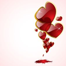 Free The  Abstract Hearts Background Royalty Free Stock Image - 18701456