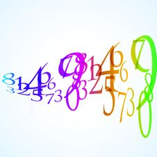 Free The Abstract Color Number Background Stock Photos - 18701463
