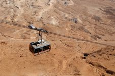 Free Funicular Over The Desert Royalty Free Stock Images - 18703909