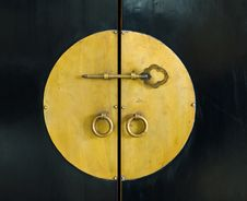 Free Golden Key In The Cabinet Door Royalty Free Stock Photo - 18704635