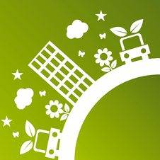 Free Green Ecological Illustration Royalty Free Stock Image - 18704686