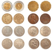 Different Coins Stock Images