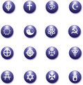 Free Religious Purple Icons Set Stock Photos - 18713883