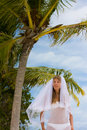 Free Bride On A Tropical Beach Royalty Free Stock Photo - 18714825