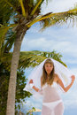 Free Bride On A Tropical Beach Stock Image - 18714831