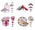 Free Woman Stuff Icons Stock Image - 18719831