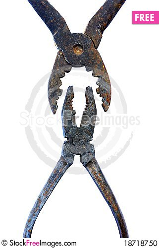 Free Old Rusty Tools, Pliers, Pincers Stock Photo - 18718750