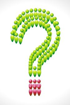 Human Icon Forming Question Mark Royalty Free Stock Photography