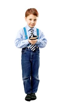 Free Young Boy With Magnifer Royalty Free Stock Images - 18712079