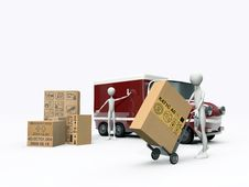 Free Transporters Working Royalty Free Stock Photography - 18712087