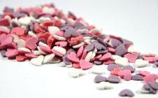 Sugar Hearts Stock Photos