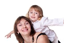 Free Happy Mother And Daughter Playing Stock Image - 18712361