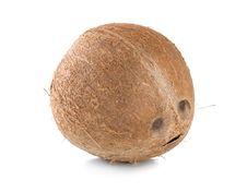 Free Ripe Coconut Isolated Royalty Free Stock Photo - 18713095