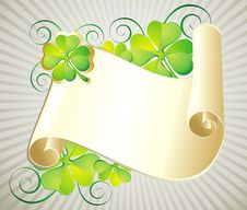 Patrick S Day Illustration With  Scroll Stock Photo