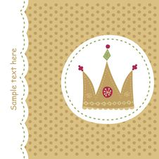 Free Card With Royal Crown Royalty Free Stock Images - 18713179