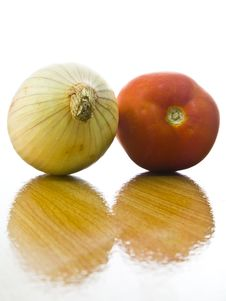 Free Onion And Tomato Stock Photography - 18713202