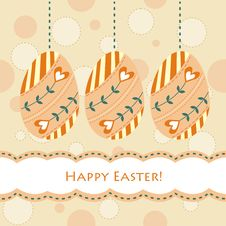 Free Easter Card Royalty Free Stock Photography - 18713217