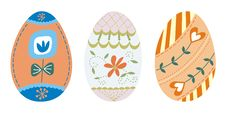 Free Set Of 3 Easter Eggs (3) Royalty Free Stock Photo - 18713435