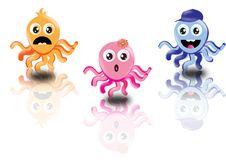 Free Three Funny Octopus Stock Photo - 18713830
