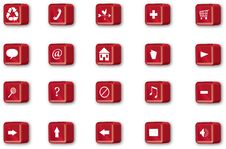 Free Red Navigation Icons Stock Photos - 18713853