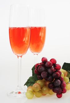 Pink Champagne Royalty Free Stock Images