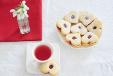 Free Fruit Tea And Biscuits Royalty Free Stock Photo - 18713975