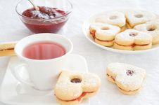 Free Fruit Tea And Biscuits Stock Photo - 18714000