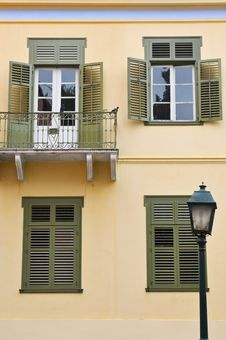 Free Typical Greek Facade Royalty Free Stock Photos - 18714138