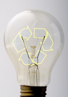 Free Recyclable Bulb Royalty Free Stock Photos - 18714388
