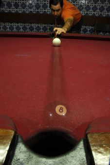 Free Person Playing Snooker Royalty Free Stock Photos - 18714418