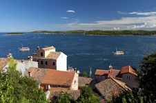 Free Croatia -  Rovinj - Rooftops And Sea Royalty Free Stock Images - 18714659