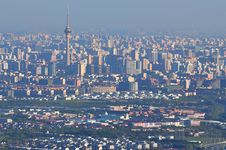 Beijing Cityscape-Central TV Tower Stock Image